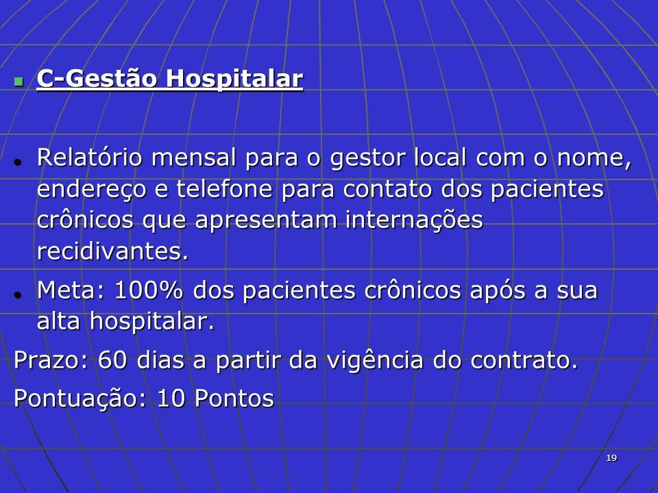 20 D-Desenvolvimento Profissional Cursos de treinamentos e aperfeiçoamentos de funcionários: no mínimo um curso por ano para cada funcionário do Hospital.