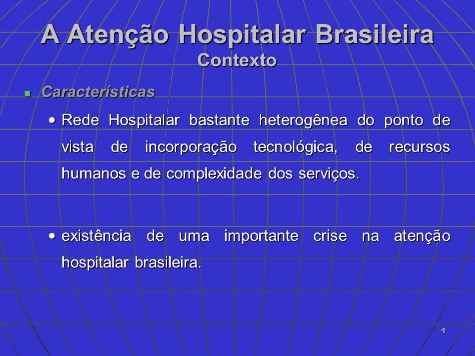 5 Crise dos Hospitais no Brasil Alternativas à crise Alternativas à crise Redefinição do Modelo Assistencial; Redefinição do Modelo Assistencial; O Redesenho do Modelo Organizativo e do modelo de gestão ; O Redesenho do Modelo Organizativo e do modelo de gestão ; Reconstrução do Relacionamento com o SUS; Reconstrução do Relacionamento com o SUS; Reorientação do Ensino e da Pesquisa; Reorientação do Ensino e da Pesquisa; Revisão dos Mecanismos de Financiamento Pgto por valor global - Revisão dos Mecanismos de Financiamento Pgto por valor global -