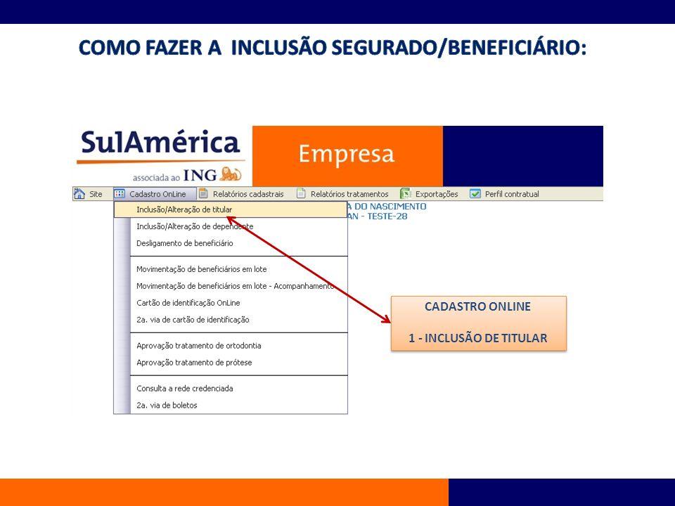 INCLUSÃO 1- CLICAR NA FOLHA EM BRANCO PARA LIMPAR CAMPO; 2- INFORMAR NOME COMPLETO SEM ABREVIATURA; 3- RE : MATRÍCULA DE REGISTRO DO FUNCIONÁRIO NA EMPRESA DELE; 4- CEP: ENDEREÇO DO FUNCIONÁRIO, NÃO ESQUECER O Nº RESIDENCIAL; 5- TELEFONE: RESIDENCIAL OU CELULAR DO FUNCIONÁRIO; 6- E-MAIL(CASO FUNCIONÁRIO POSSUA); 7- CARGO: FUNÇÃO QUE FUNCIONÁRIO EXERCE; 8- DEPARTAMENTO: UNIDADE QUE ESTA LOTADO; 9- VÍNCULO: FUNCIONÁRIO, ESTAGIÁRIO, DIRETO RIA, ETC; 10- DATA ADMISSÃO 11- PLANO : SELECIONAR O PLANO ESCOLHIDO 12- CPF 13- IDENTIDADE (RG) 14- PIS/PASEP 15- DATA NASCIMENTO 16-SEXO 17-NOME DA MÃE 18- GRAVAR DADOS INCLUSÃO 1- CLICAR NA FOLHA EM BRANCO PARA LIMPAR CAMPO; 2- INFORMAR NOME COMPLETO SEM ABREVIATURA; 3- RE : MATRÍCULA DE REGISTRO DO FUNCIONÁRIO NA EMPRESA DELE; 4- CEP: ENDEREÇO DO FUNCIONÁRIO, NÃO ESQUECER O Nº RESIDENCIAL; 5- TELEFONE: RESIDENCIAL OU CELULAR DO FUNCIONÁRIO; 6- E-MAIL(CASO FUNCIONÁRIO POSSUA); 7- CARGO: FUNÇÃO QUE FUNCIONÁRIO EXERCE; 8- DEPARTAMENTO: UNIDADE QUE ESTA LOTADO; 9- VÍNCULO: FUNCIONÁRIO, ESTAGIÁRIO, DIRETO RIA, ETC; 10- DATA ADMISSÃO 11- PLANO : SELECIONAR O PLANO ESCOLHIDO 12- CPF 13- IDENTIDADE (RG) 14- PIS/PASEP 15- DATA NASCIMENTO 16-SEXO 17-NOME DA MÃE 18- GRAVAR DADOS