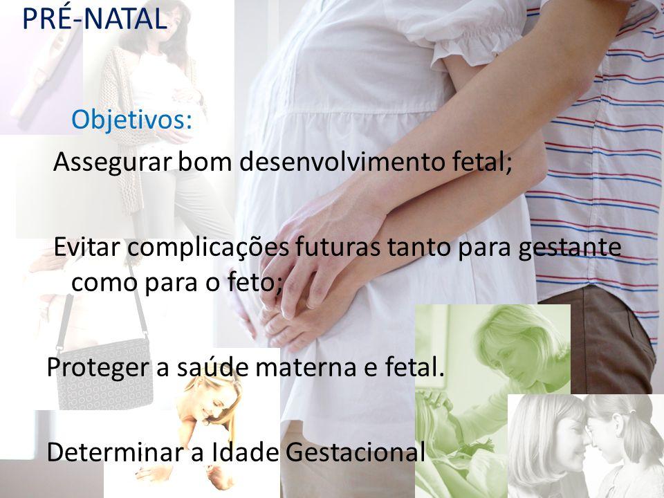 Avaliação Pré-natal É o exame clínico, anamnese e exames.