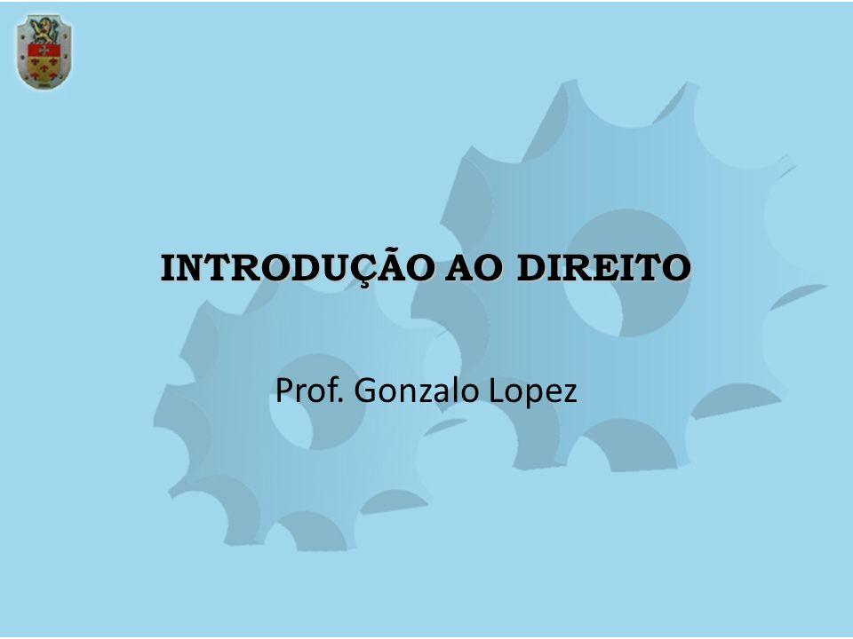 INTRODUÇÃO AO DIREITO Prof. Gonzalo Lopez