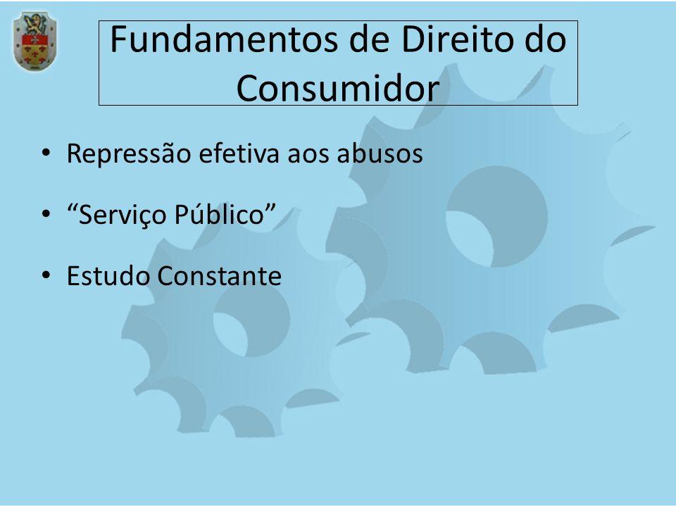 Fundamentos de Direito do Consumidor Repressão efetiva aos abusos Serviço Público Estudo Constante