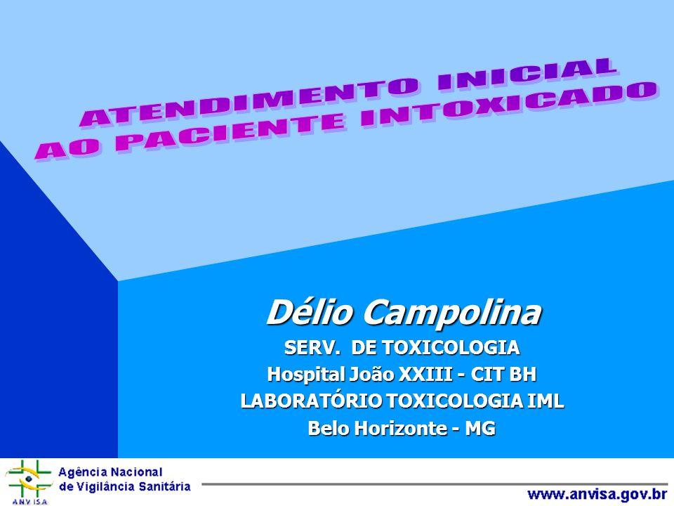 Délio Campolina SERV. DE TOXICOLOGIA Hospital João XXIII - CIT BH LABORATÓRIO TOXICOLOGIA IML Belo Horizonte - MG