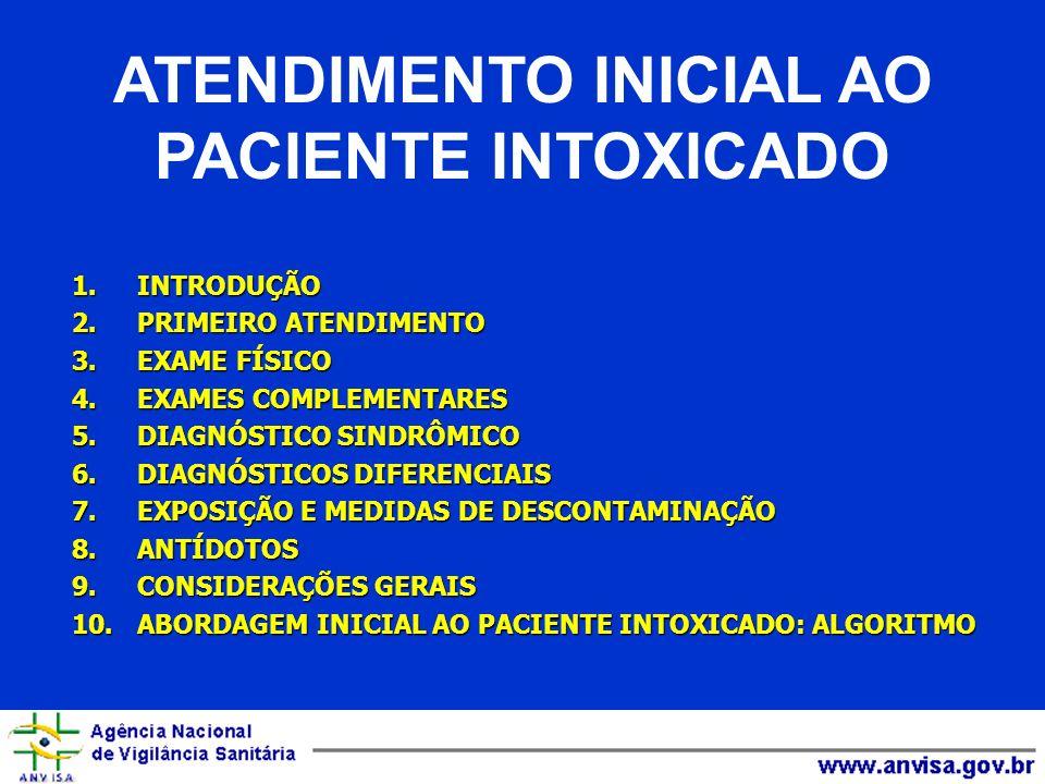 1.INTRODUÇÃO 2.PRIMEIRO ATENDIMENTO 3.EXAME FÍSICO 4.EXAMES COMPLEMENTARES 5.DIAGNÓSTICO SINDRÔMICO 6.DIAGNÓSTICOS DIFERENCIAIS 7.EXPOSIÇÃO E MEDIDAS