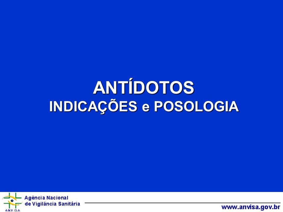 ANTÍDOTOS INDICAÇÕES e POSOLOGIA