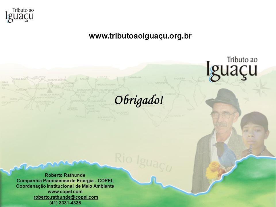www.tributoaoiguaçu.org.br Roberto Rathunde Companhia Paranaense de Energia - COPEL Coordenação Institucional de Meio Ambiente www.copel.com roberto.r