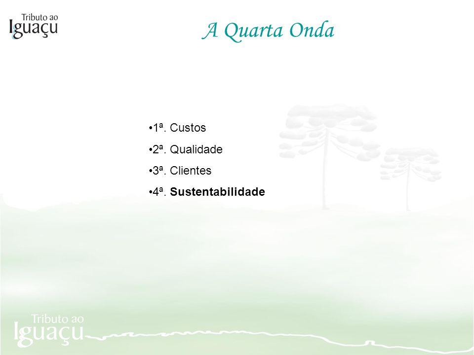 1ª. Custos 2ª. Qualidade 3ª. Clientes 4ª. Sustentabilidade A Quarta Onda