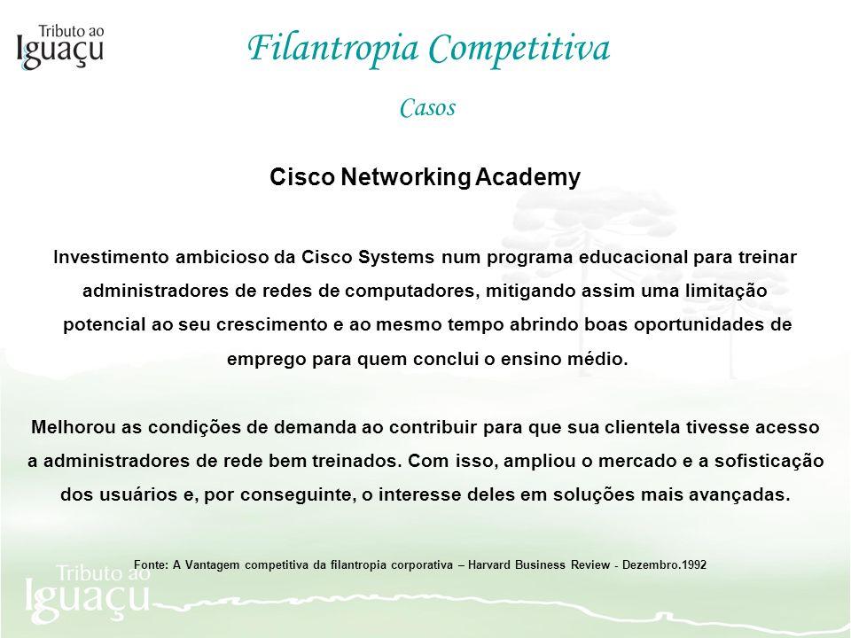 Cisco Networking Academy Investimento ambicioso da Cisco Systems num programa educacional para treinar administradores de redes de computadores, mitig