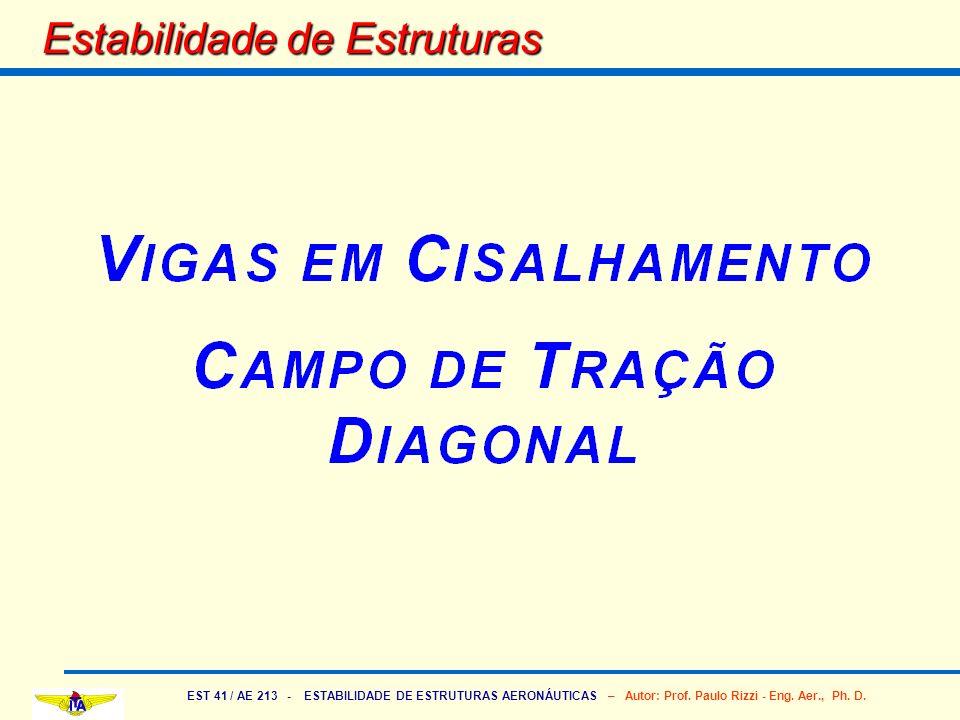 EST 41 / AE 213 - ESTABILIDADE DE ESTRUTURAS AERONÁUTICAS – Autor: Prof. Paulo Rizzi - Eng. Aer., Ph. D. Estabilidade de Estruturas