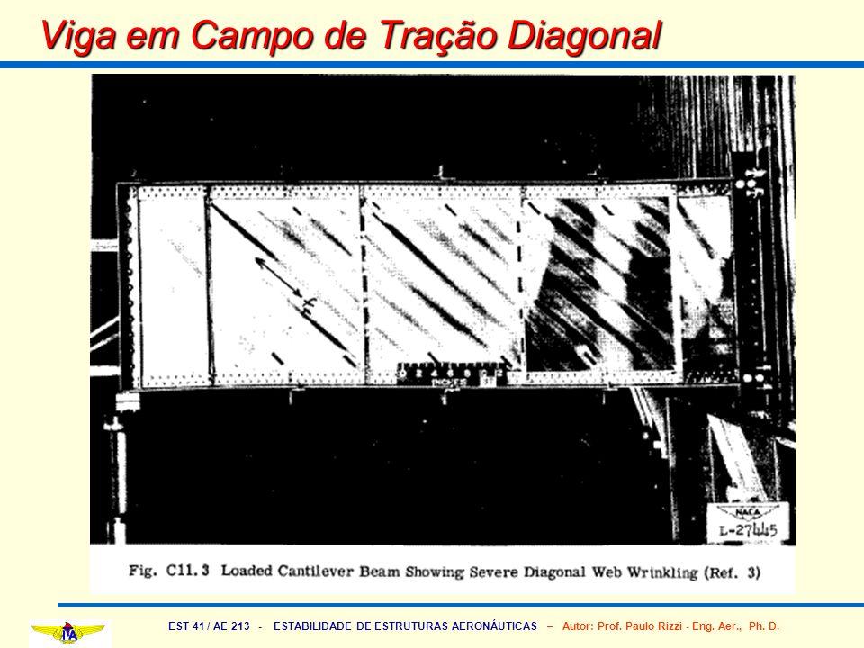 EST 41 / AE 213 - ESTABILIDADE DE ESTRUTURAS AERONÁUTICAS – Autor: Prof. Paulo Rizzi - Eng. Aer., Ph. D. Viga em Campo de Tração Diagonal