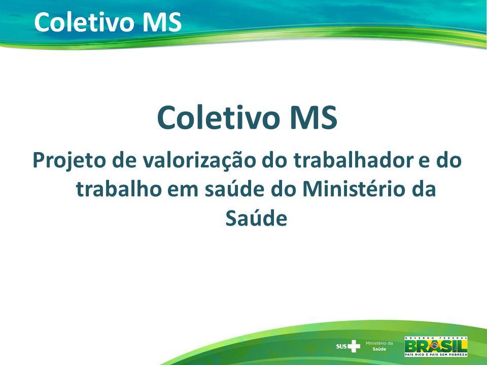 Coletivo MS Projeto de valorização do trabalhador e do trabalho em saúde do Ministério da Saúde 14