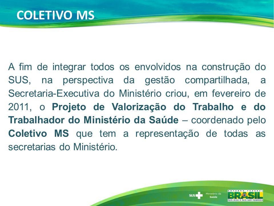 COLETIVO MS A fim de integrar todos os envolvidos na construção do SUS, na perspectiva da gestão compartilhada, a Secretaria-Executiva do Ministério c