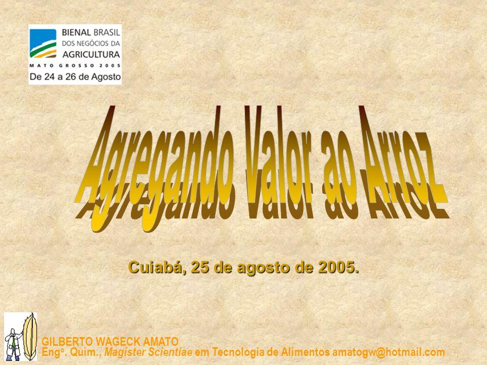 GILBERTO WAGECK AMATO Eng o. Quím., Magister Scientiae em Tecnologia de Alimentos amatogw@hotmail.com Cuiabá, 25 de agosto de 2005.