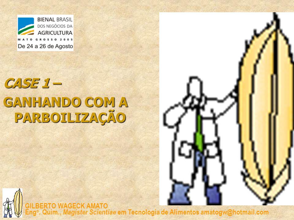 GILBERTO WAGECK AMATO Eng o. Quím., Magister Scientiae em Tecnologia de Alimentos amatogw@hotmail.com CASE 1 – GANHANDO COM A PARBOILIZAÇÃO