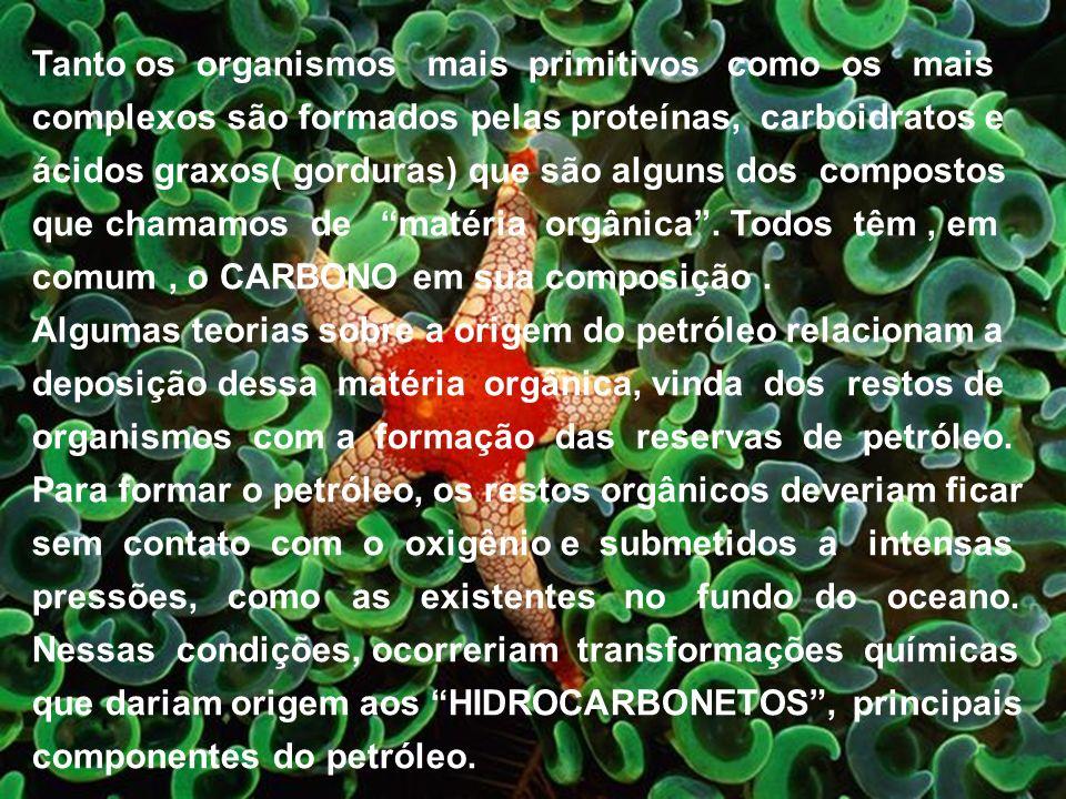 Tanto os organismos mais primitivos como os mais complexos são formados pelas proteínas, carboidratos e ácidos graxos( gorduras) que são alguns dos co