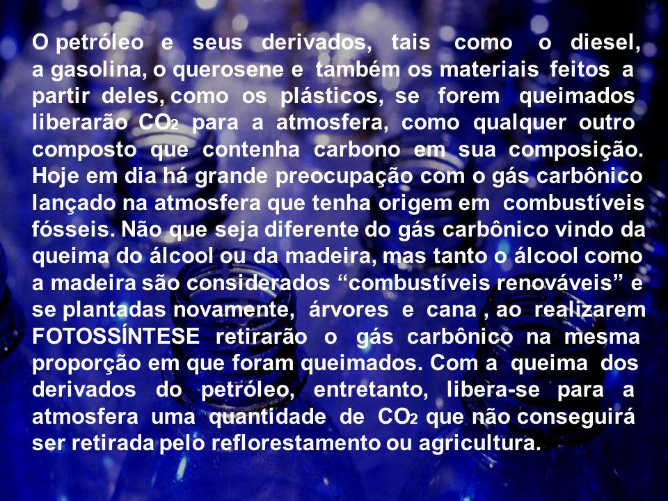 O excesso de gás carbônico produzido pelas atividades humanas vem sendo responsabilizado pelo aumento da temperatura global, o que prejudica o equilíbrio delicado de todos os sistemas físicos, químimicos, geológicos e biológicos que mantêm a vida no planeta.