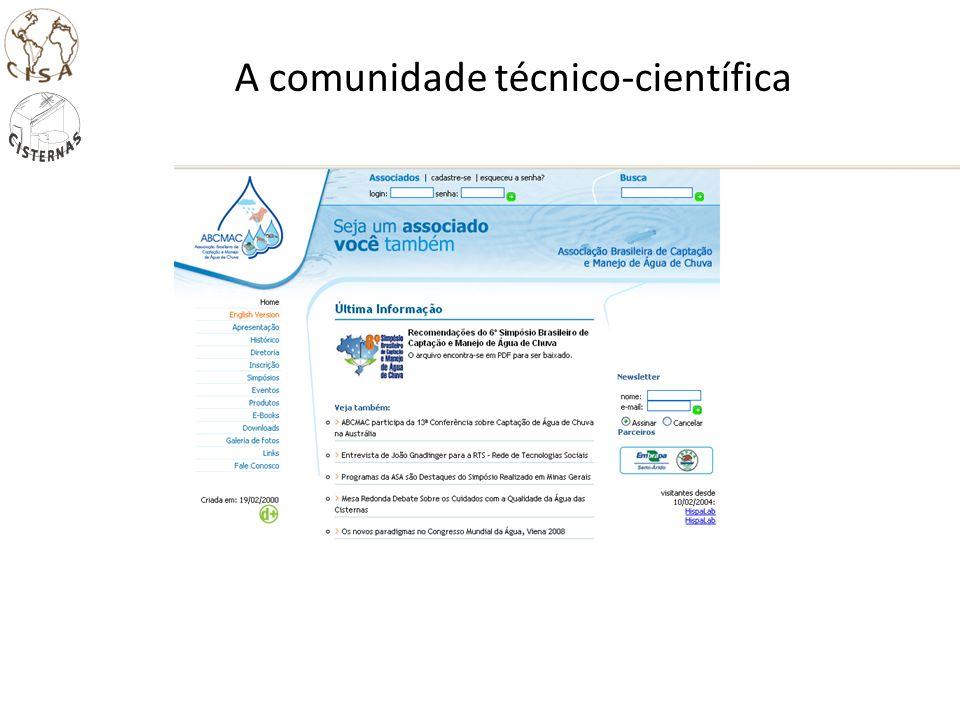 A comunidade técnico-científica