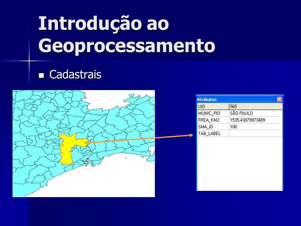 Introdução ao Geoprocessamento Cadastrais Cadastrais