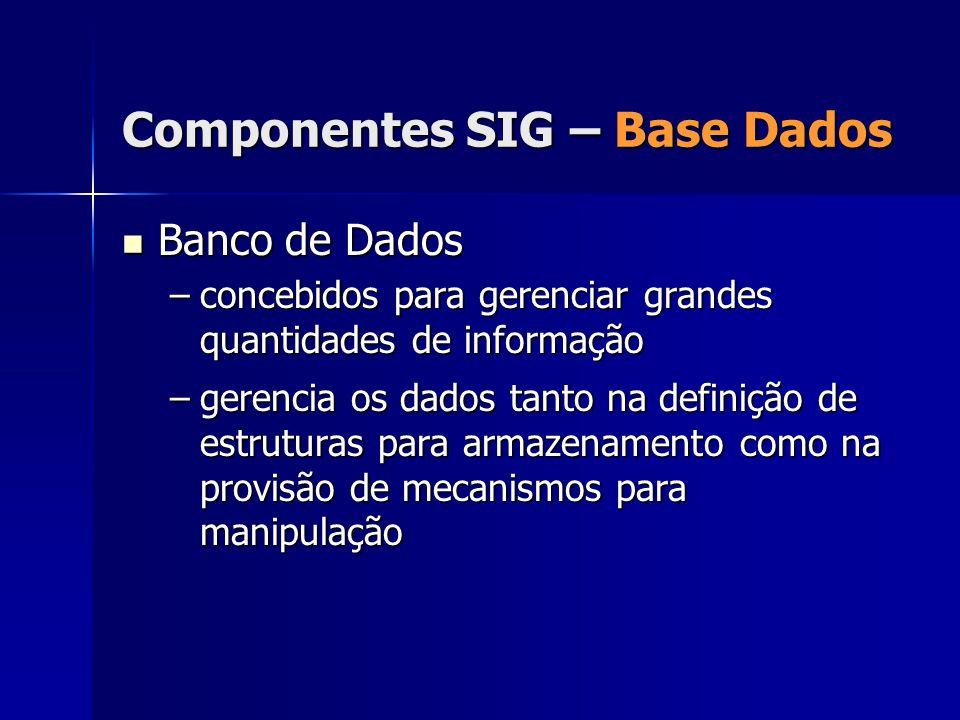 Banco de Dados Banco de Dados –concebidos para gerenciar grandes quantidades de informação –gerencia os dados tanto na definição de estruturas para ar