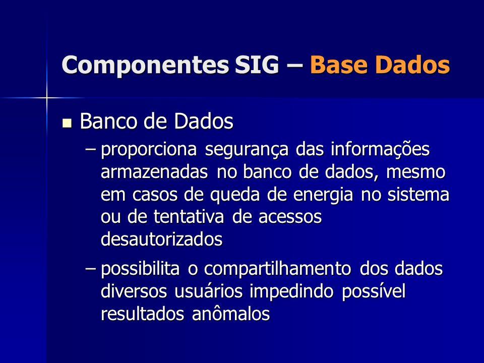 Banco de Dados Banco de Dados –proporciona segurança das informações armazenadas no banco de dados, mesmo em casos de queda de energia no sistema ou d
