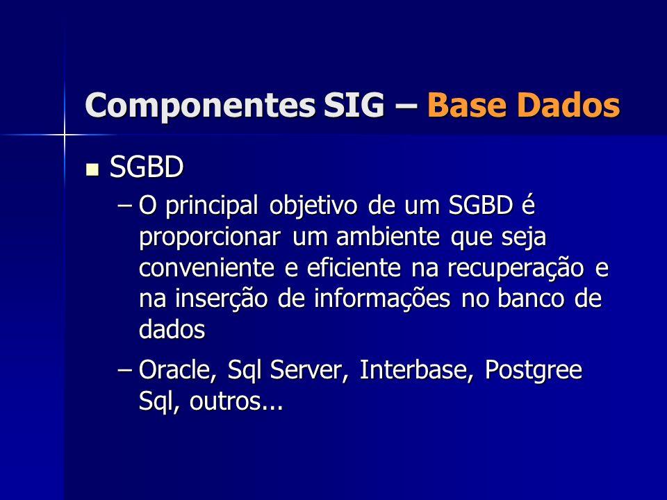 SGBD SGBD –O principal objetivo de um SGBD é proporcionar um ambiente que seja conveniente e eficiente na recuperação e na inserção de informações no