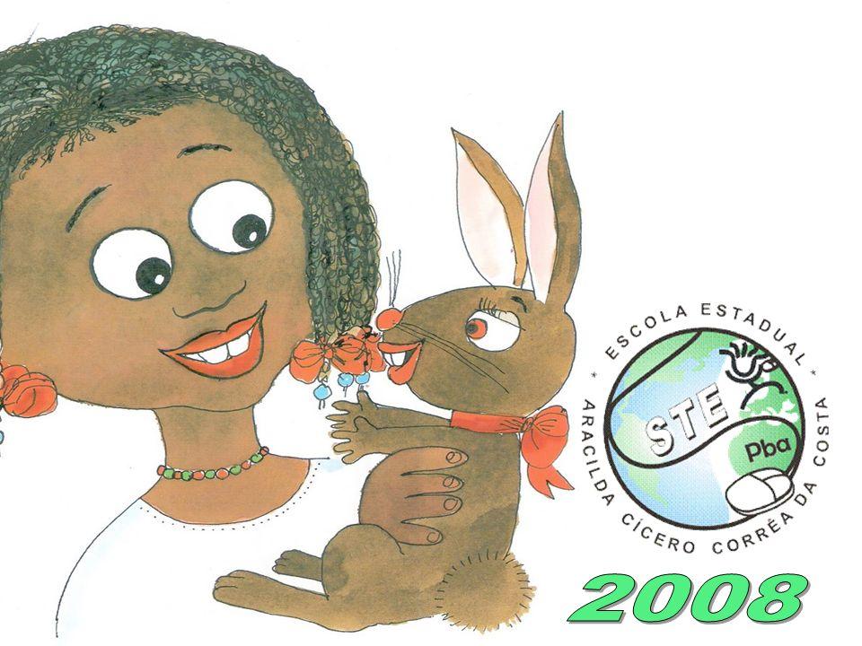 E quando a coelhinha saía, de laço colorido no pescoço, sempre encontrava alguém que perguntava: - Coelha bonita do laço de fita, qual é teu segredo p