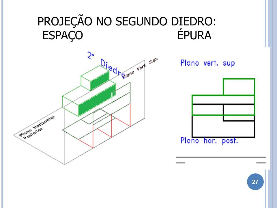 PROJEÇÃO NO SEGUNDO DIEDRO: ESPAÇO ÉPURA 27