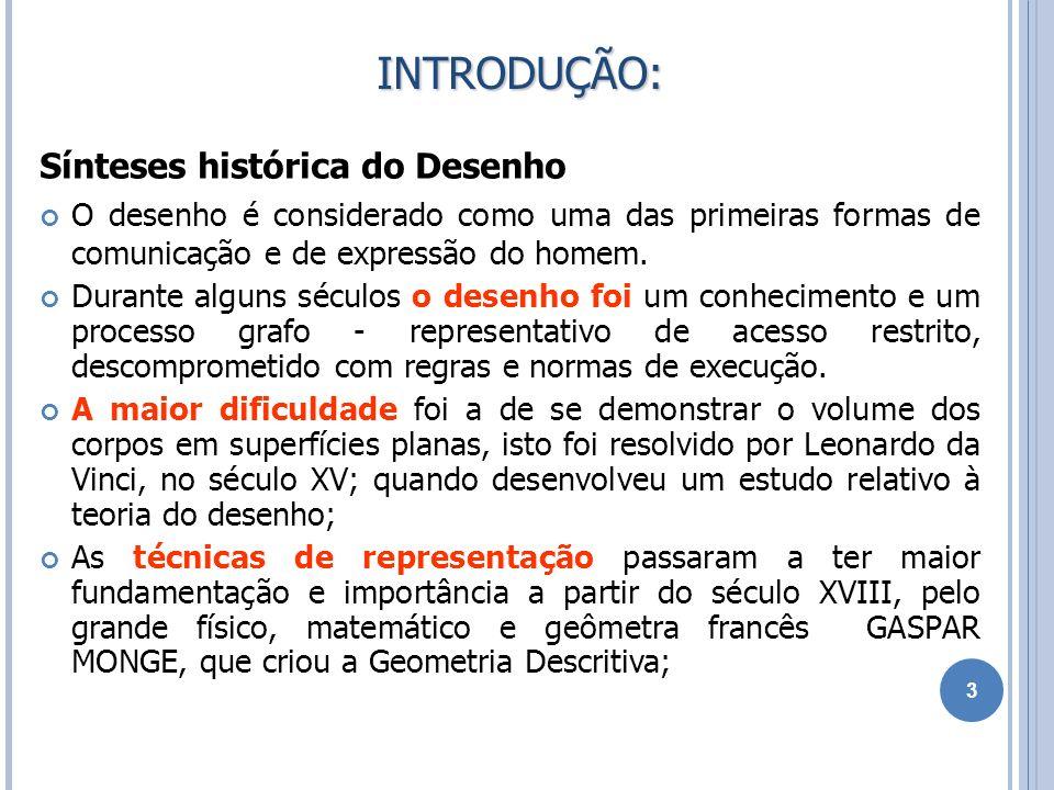 REBATIMENTO DO PLANO NO SISTEMA DE PROJEÇÃO DE MONGE 14