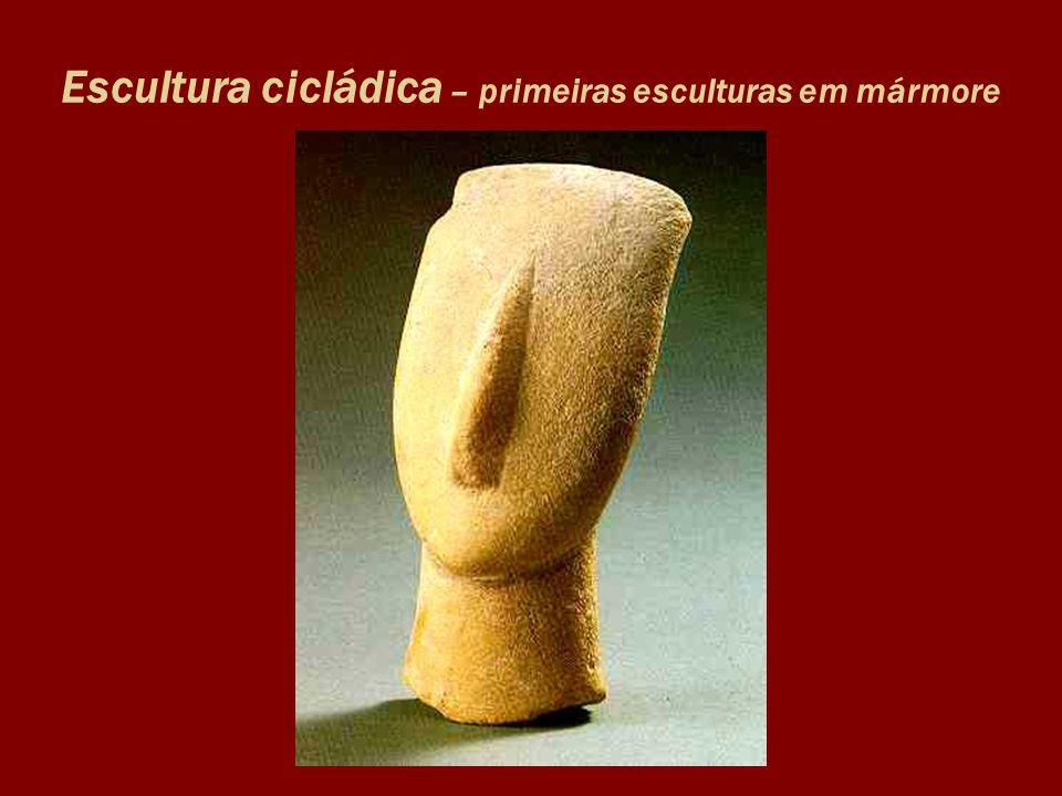 Escultura cicládica – primeiras esculturas em mármore