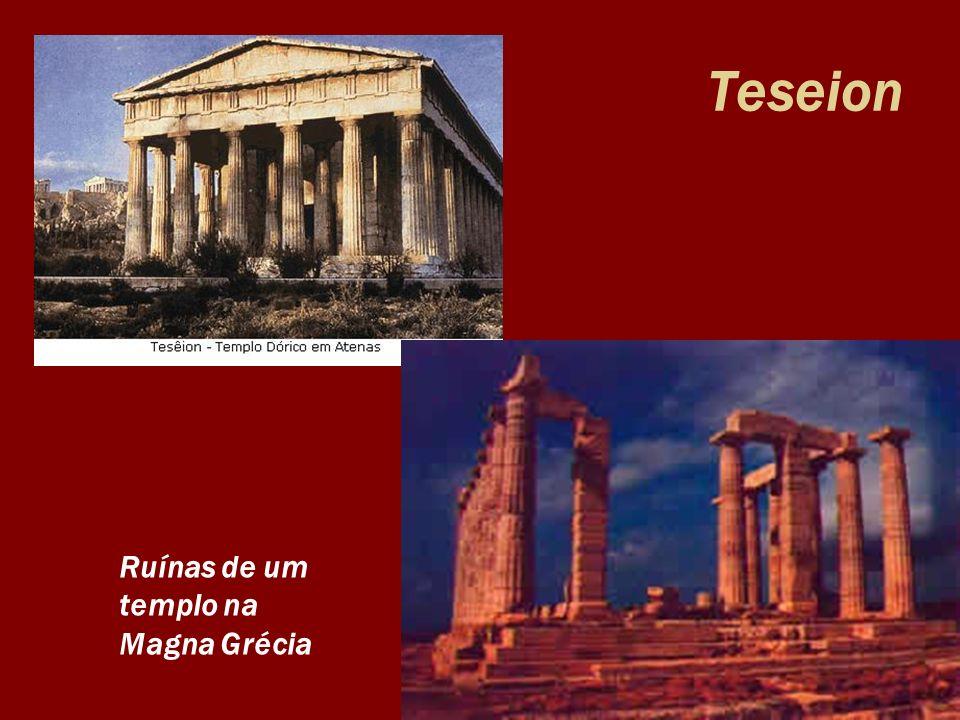 Teseion Ruínas de um templo na Magna Grécia
