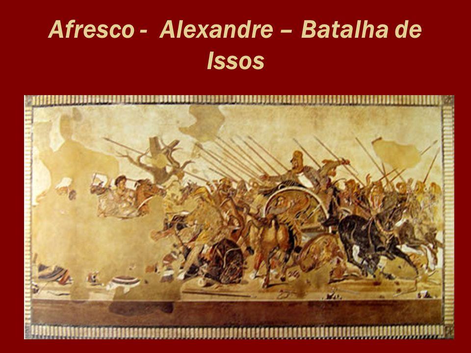 Afresco - Alexandre – Batalha de Issos