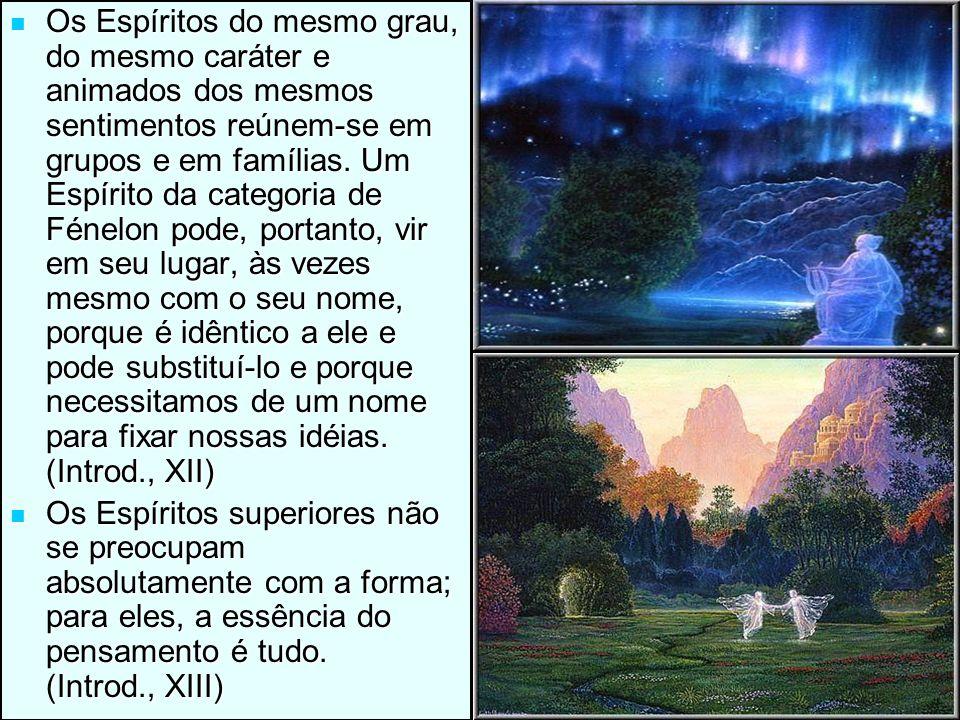 14/11/201312 Os Espíritos do mesmo grau, do mesmo caráter e animados dos mesmos sentimentos reúnem-se em grupos e em famílias. Um Espírito da categori