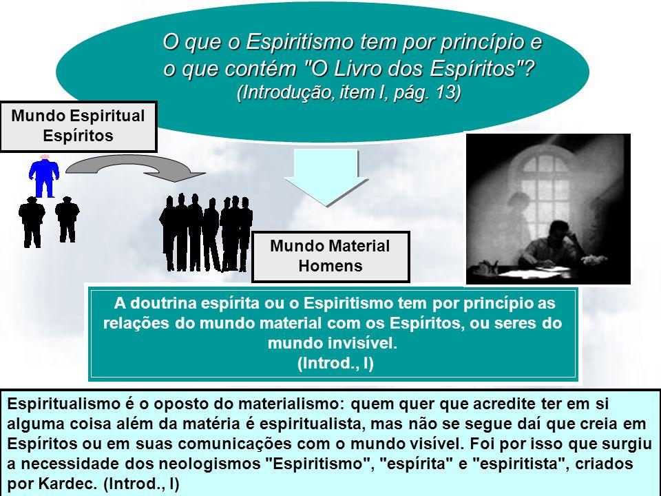14/11/20132 O que o Espiritismo tem por princípio e o que contém