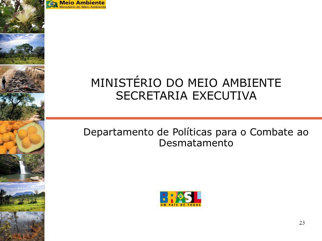 23 MINISTÉRIO DO MEIO AMBIENTE SECRETARIA EXECUTIVA Departamento de Políticas para o Combate ao Desmatamento