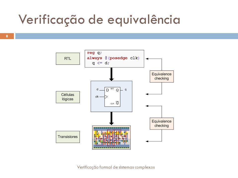 Verificação de equivalência 8 Verificação formal de sistemas complexos