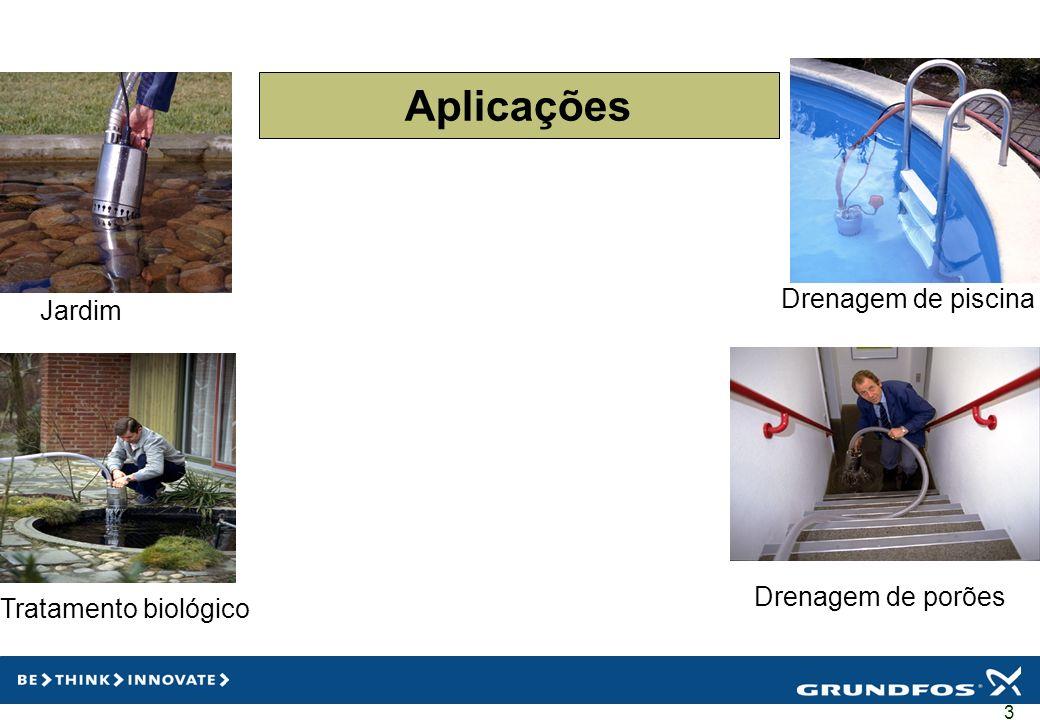 3 Aplicações Jardim Tratamento biológico Drenagem de porões Drenagem de piscina