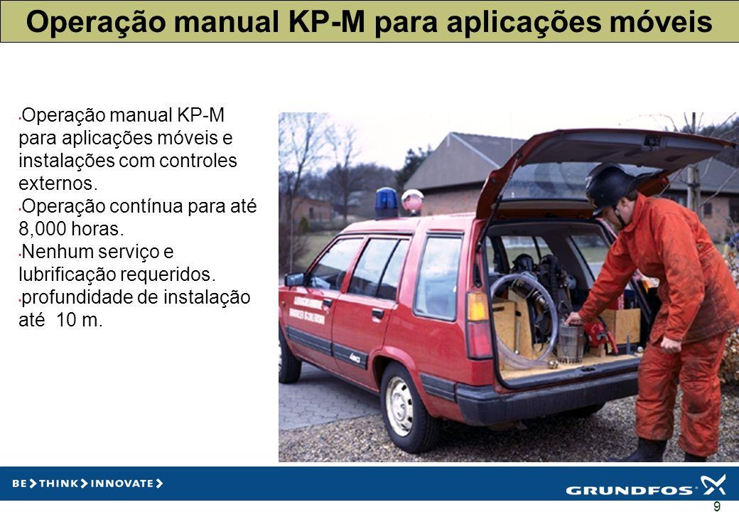 9 Operação manual KP-M para aplicações móveis Operação manual KP-M para aplicações móveis e instalações com controles externos. Operação contínua para