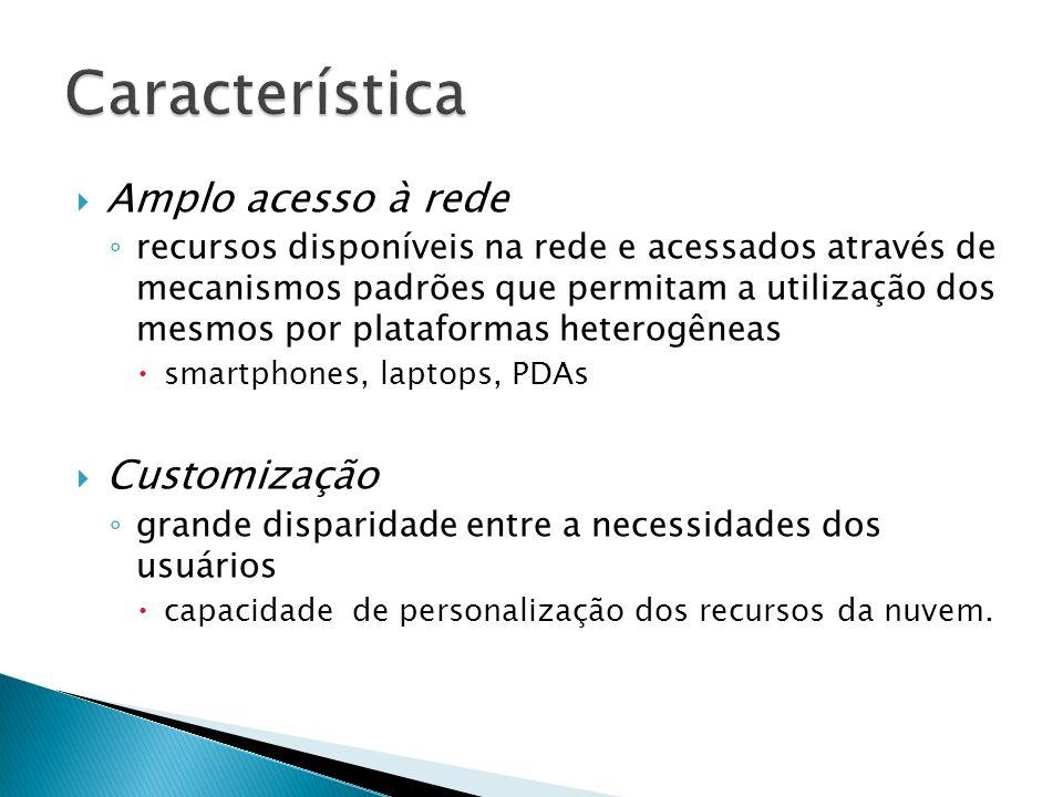 Amplo acesso à rede recursos disponíveis na rede e acessados através de mecanismos padrões que permitam a utilização dos mesmos por plataformas hetero