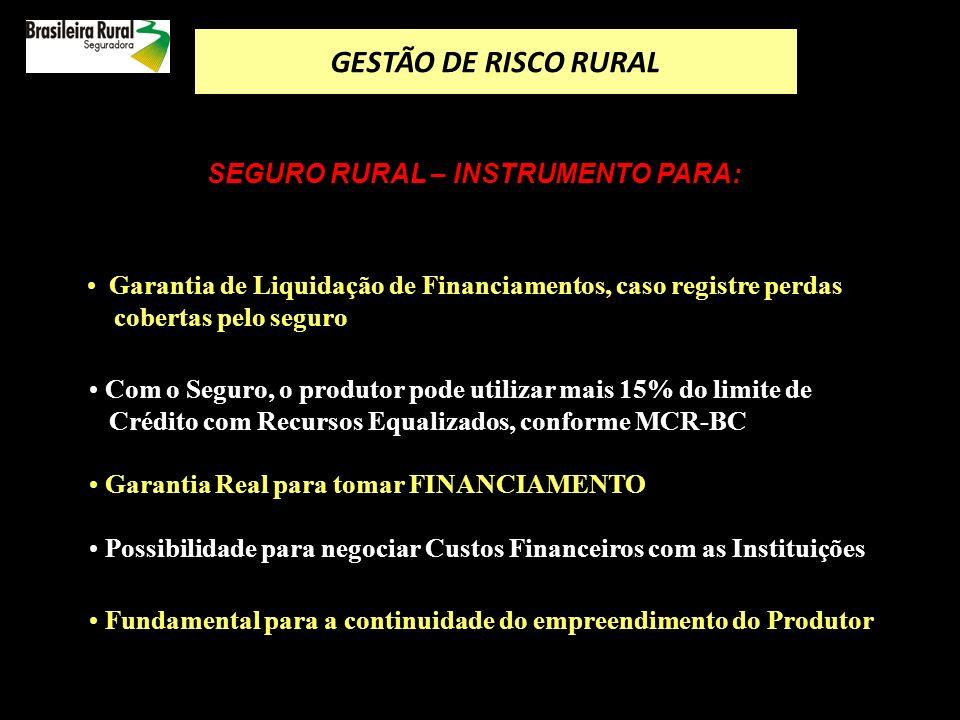 EXEMPLO DE INDENIZAÇÃO PARA A CULTURA DA SOJA Garantia de Produtividade CULTURASOJA Produtividade Garantida32,5 sacas por ha.