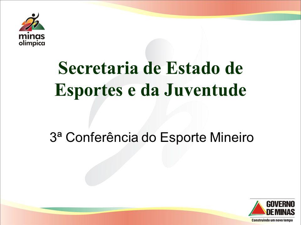 Secretaria de Estado de Esportes e da Juventude 3ª Conferência do Esporte Mineiro