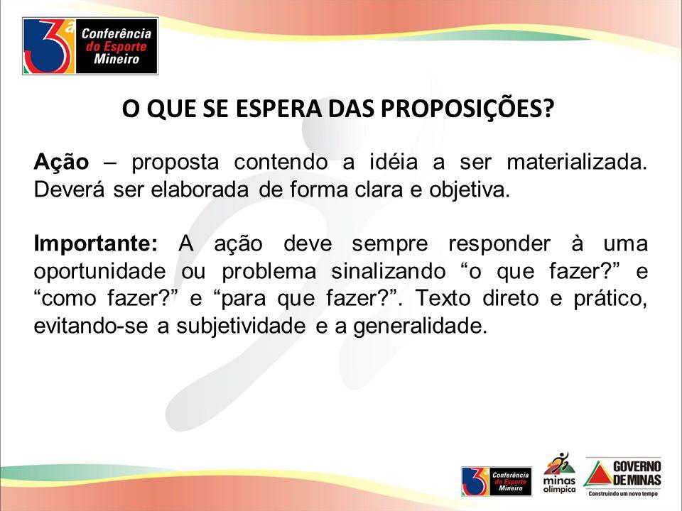 Ação – proposta contendo a idéia a ser materializada.