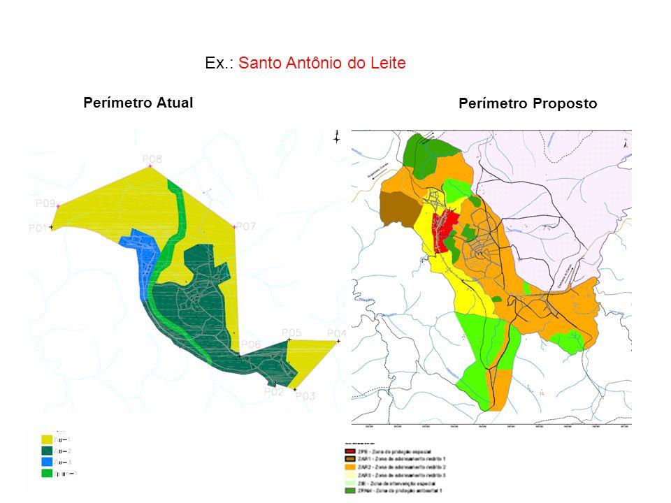 Ex.: Santo Antônio do Leite Perímetro Atual Perímetro Proposto