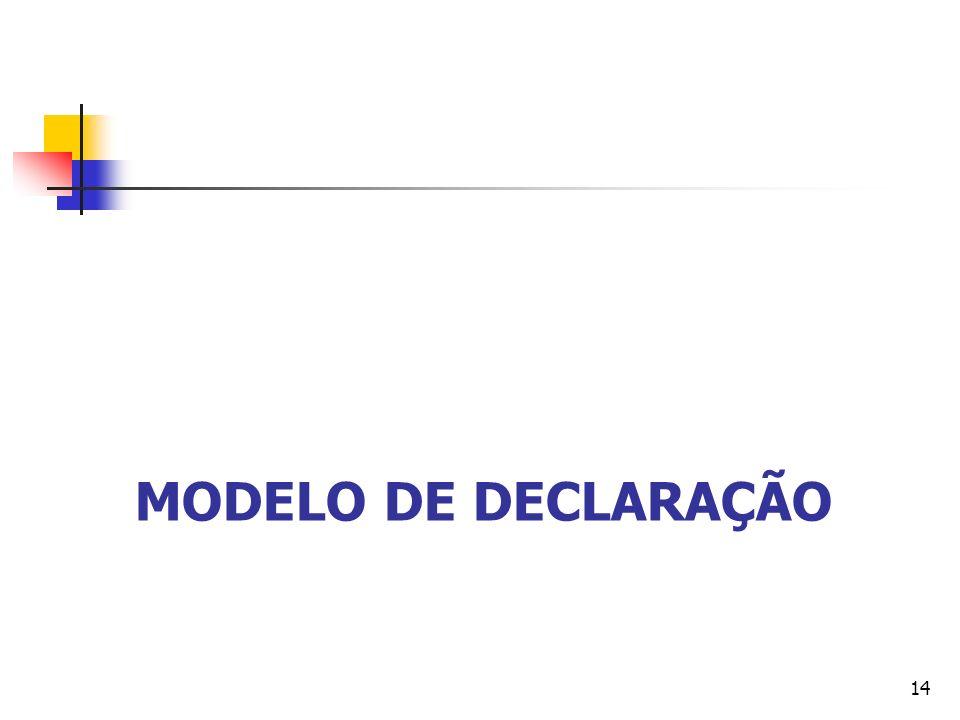 MODELO DE DECLARAÇÃO 14