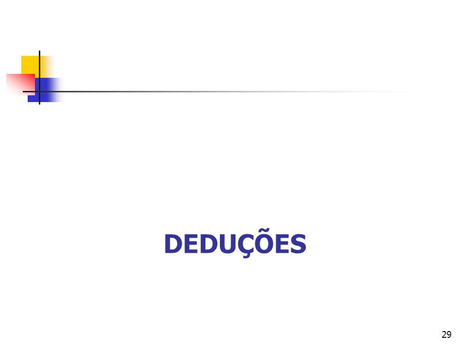 DEDUÇÕES 29