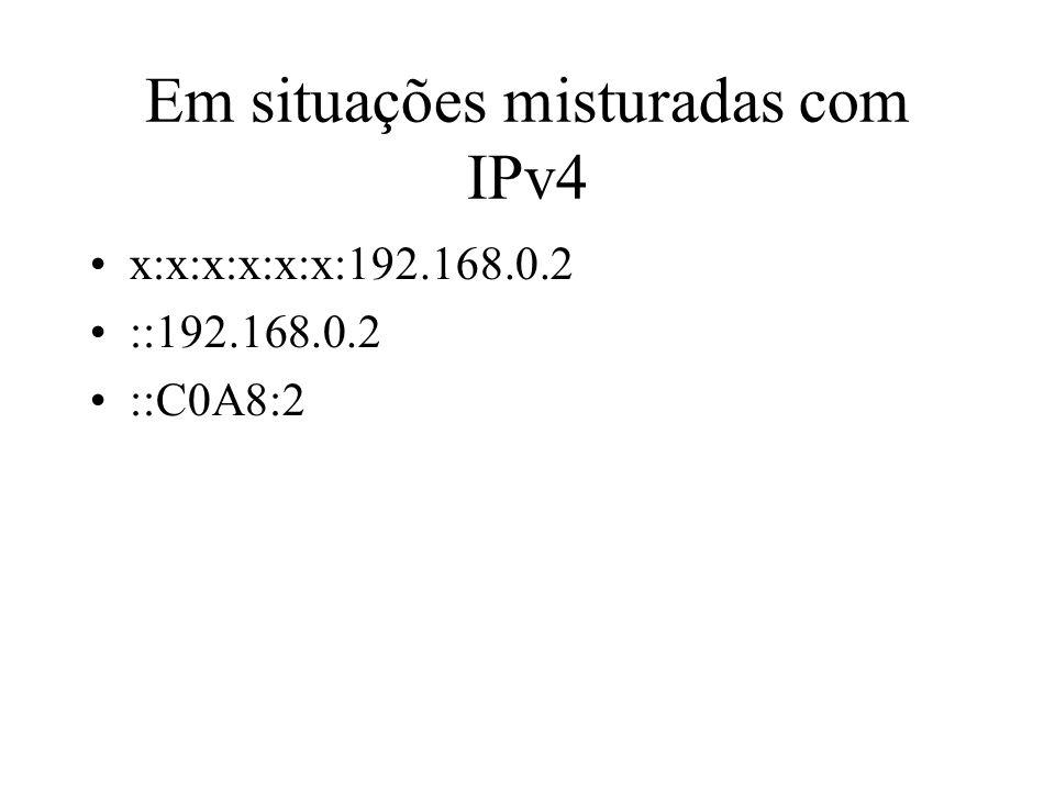Em situações misturadas com IPv4 x:x:x:x:x:x:192.168.0.2 ::192.168.0.2 ::C0A8:2