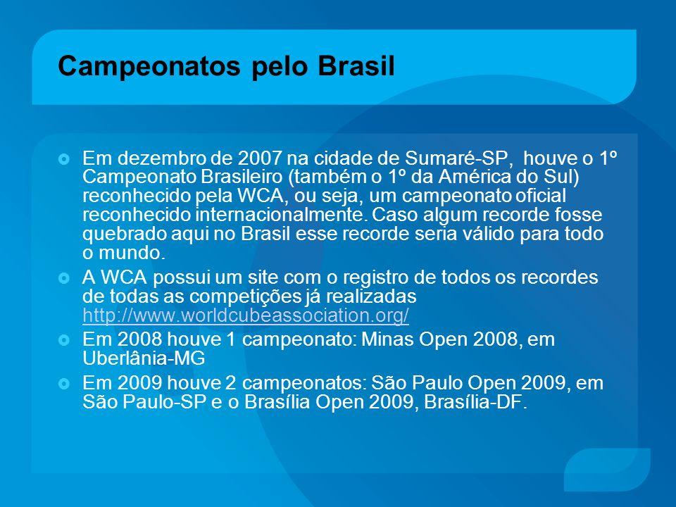 Campeonatos pelo Brasil Em dezembro de 2007 na cidade de Sumaré-SP, houve o 1º Campeonato Brasileiro (também o 1º da América do Sul) reconhecido pela