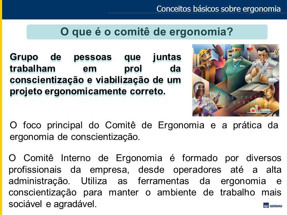 Conceitos básicos sobre ergonomia Grupo de pessoas que juntas trabalham em prol da conscientização e viabilização de um projeto ergonomicamente corret