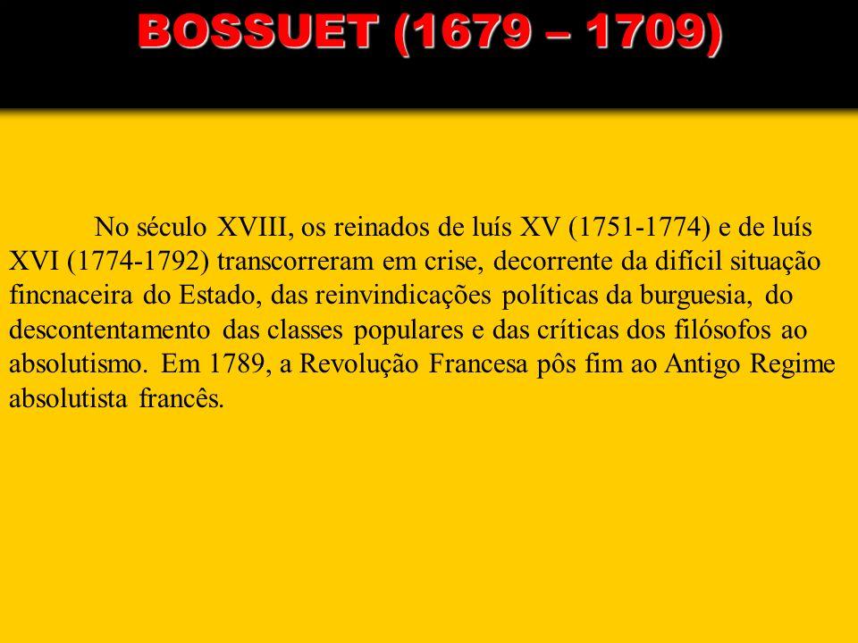 No século XVIII, os reinados de luís XV (1751-1774) e de luís XVI (1774-1792) transcorreram em crise, decorrente da difícil situação fincnaceira do Es