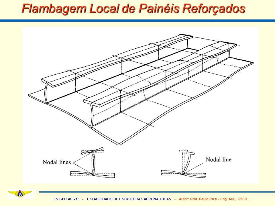 EST 41 / AE 213 - ESTABILIDADE DE ESTRUTURAS AERONÁUTICAS – Autor: Prof. Paulo Rizzi - Eng. Aer., Ph. D. Flambagem Local de Painéis Reforçados