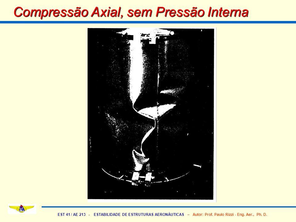 EST 41 / AE 213 - ESTABILIDADE DE ESTRUTURAS AERONÁUTICAS – Autor: Prof. Paulo Rizzi - Eng. Aer., Ph. D. Compressão Axial, sem Pressão Interna